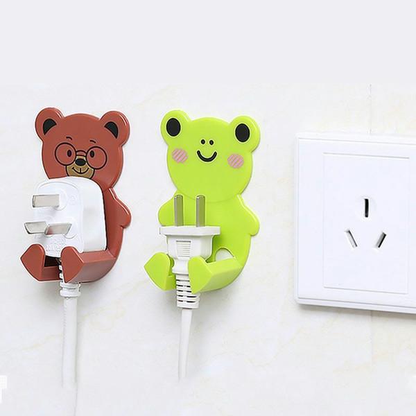 Prise de courant Creative pour recevoir le crochet de prise de cordon d'alimentation portant crochet adhésive forte non-trace trame de réception