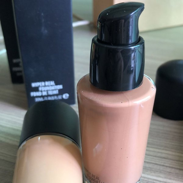 top popular NEW foundation with Pump hyper real 15 Foundation Liquid 30ML NC15 TO NC55 Top quality DHL 2020