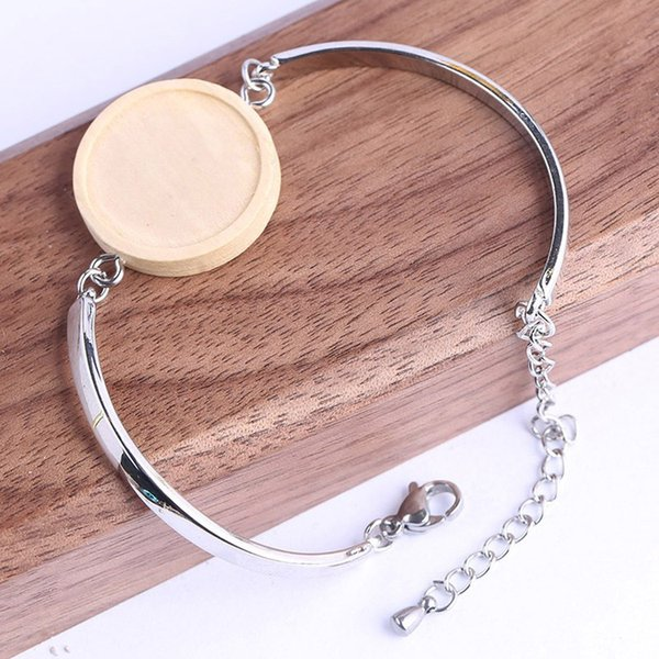 Silver Plated Round Blank Bracelet cabochon Base fits 12mm