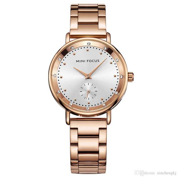 MINI FOCUS Fashion Quartz Watch Women Watches Ladies Girls Famous Brand Wrist Watch Female Clock Montre Femme Relogio MF0037L