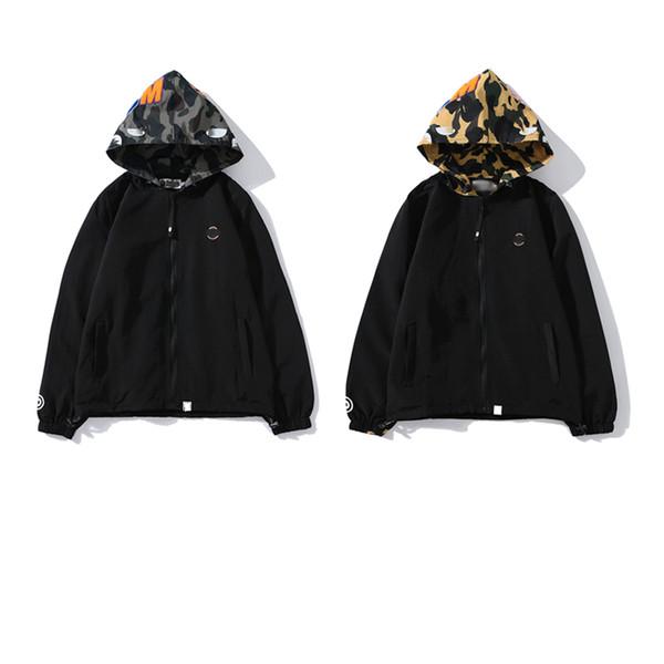 sudadera con capucha de los hombres del diseñador 2019 nuevo algodón venta pareja de lujo camiseta de la moda APE mujeres fáciles sudaderas con capucha de marca marea gabardina sombrero de camuflaje