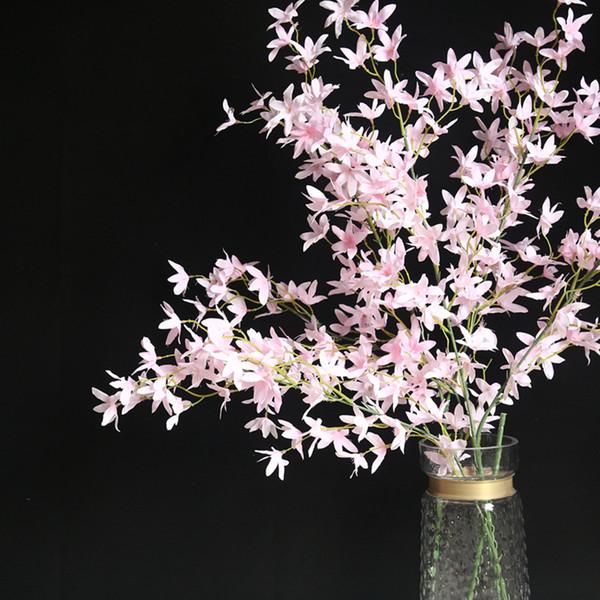 Haute Qualité artificielle Fleur Danse Orchidée Fausse fleur Accueil fête de mariage Décoration florale 2019 Nouveau mariage Décoration 4 décembre