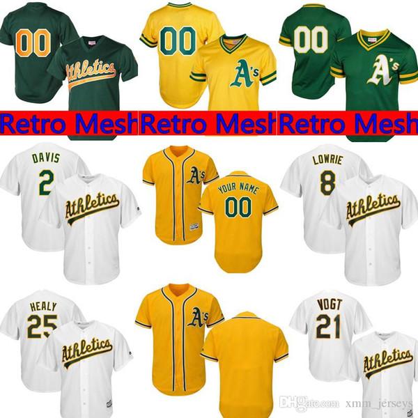 new concept 46480 13363 2019 Oakland Athletics Custom Jersey Mens 28 Matt Olson 26 Matt Chapman 2  Khris Davis 25 Piscotty 9 Reggie Jackson Baseball Jerseys From ...