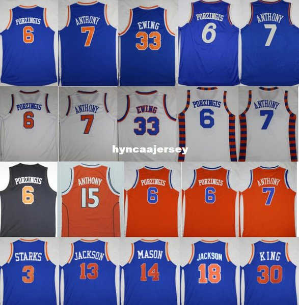 Basketball 6 kp Trikots 7 CA 3 John Starks 33 Patrick Ewing, Phil Jackson, Mark Jackson, Ncaa