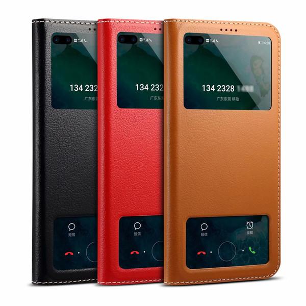 Excellence Para Huawei Honor V30 caso capa colorida Magro bonito Virar suporte Janela Couro Capa Para Huawei Honor V30
