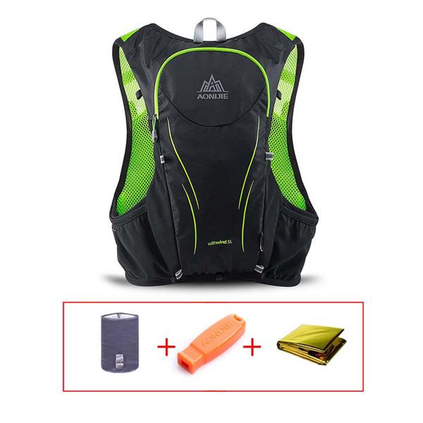 2019 AONIJIE 5L Outdoor Sports Rucksack Frauen Männer Marathon Trink Weste Pack Wasser Blase Rucksack Wandern Radfahren Laufen Tasche
