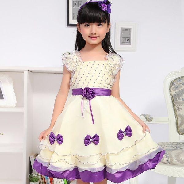 2018 Summer New Children's Clothing Girls Princess Children Puff Large Influx Of Short-sleeved Dress Gauze DressMX190823