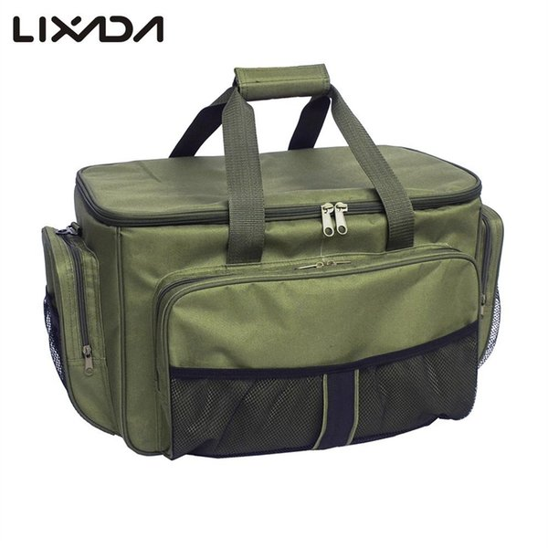 ba72eaa2b736 2019 Lixada Fishing Reel Lure Bag Insulated Lunch Box 600D Oxford Fabric  Fishing Tackle Bag Case For Carp Pesca Hunting #85337 From I_jersey, $48.54  | ...