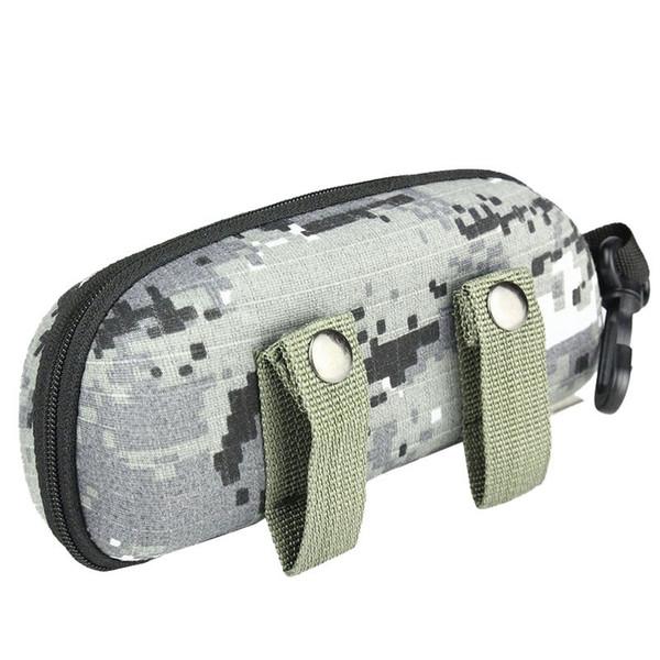 Portable Glasses Case Hard Tactical EVA Camo Molle Buckle Sunglasses Box Eyewear Holder Pouch Outdoor EDC Sports Travel Bags Men #371006