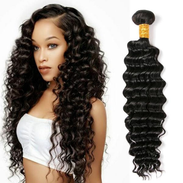 Human Hair 3 Bundles 8-28 inch Brazilian Virgin Remy Human Hair Loose Wave Yaki Straight Deep Curly Body Wave Straight Color 1B Black