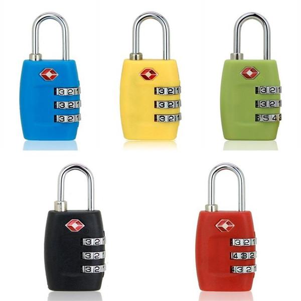 Tsa 3 Digit Code Customs Locks Combination Lock Resettable Multi Color Travel Luggage Suitcase Padlock 8 8sq F1