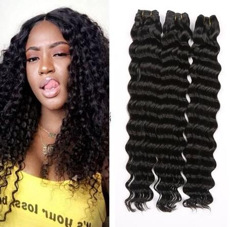 Brazilian Virgin Hair Deep Wave Unprocessed Brazilian Deep Curly Wave Human Hair Extensions 9A Deep wave Hair 3 bundles