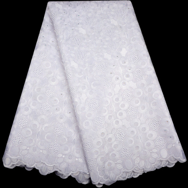 top popular 2018 Latest Nigeria Swiss Laces High Quality Swiss Voile Laces Switzerland Cotton African Dry Lace Fabric For Man Women A983 2021
