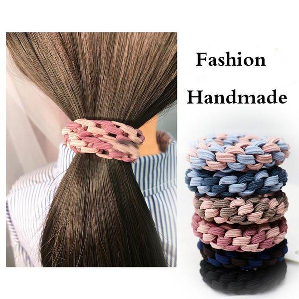 Pleasing Korean Rubberband Cute Twist Elastic Hair Bands Hair Rope Ties For Natural Hairstyles Runnerswayorg