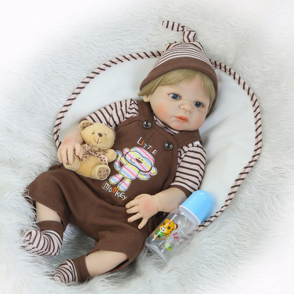 Reborn Baby Dolls 46CM Babies Doll Full Vinyl Body So Truly Girl Model Doll para niños pequeños bebe Kids Toy Gifts