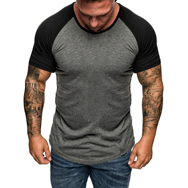 2019 Men Running Tshirts Gyms Tight Sport Training Shirt Mens Fitness Homme Bodybuilding Tshirt Male Muscle Slim Fit Tees Tops