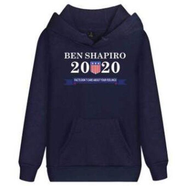 Ben Shapiro Hooded Hoodies Hombre Primavera Otoño 2020 Moda Sudaderas Manga larga Tops