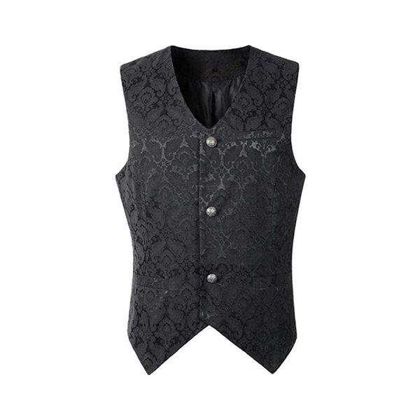 New Arrival Wedding Party Men Single Breasted Suit Vest Floral Print Slim Fit Waistcoat