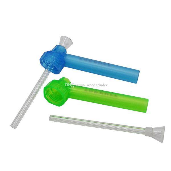 bunte protable Plastikoberteilwasser Bongpfeife Acrylshisha Tabakwasserflasche Bongpfeife für das Rauchen