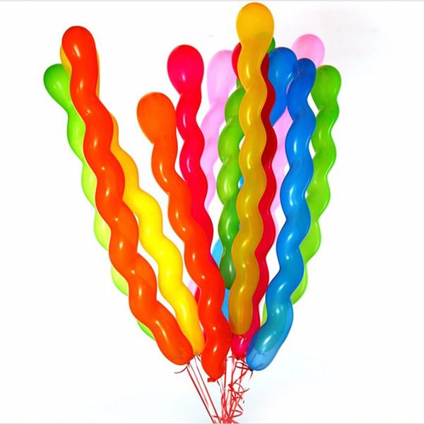 Uzun Kalınlaşmak Büküm Spiral Kauçuk Balonlar 43 inç Şişme Lateks vidalı Baloons Düğün Doğum Günü Partisi Dekorasyon Eğlence Oyunca ...