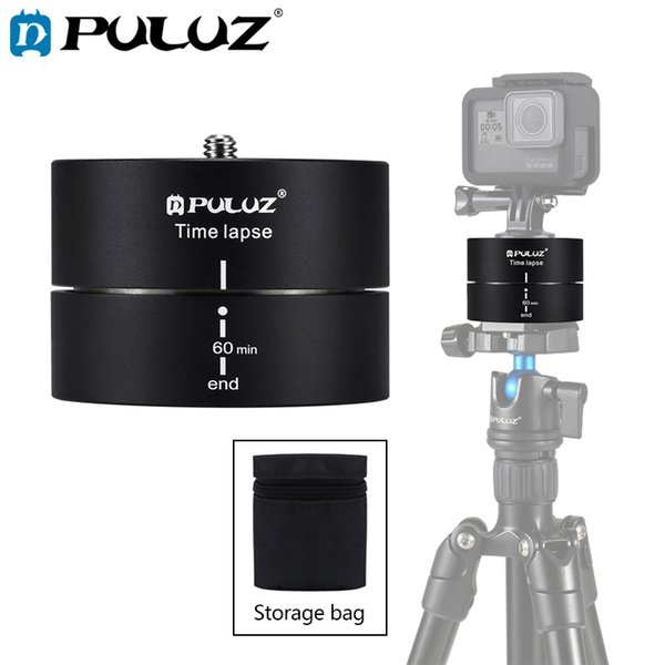Camera Accessories 360 Degree Auto Rotation 60 Minutes Time Lapse Stabilizer Tripod Head Adapter for GoPro Color : Black Black