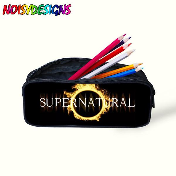Supernatural Pencil case for girl Pencil Bags boys Women Makeup Bag Cosmetics Case Pen Box For Children School Stationery -K