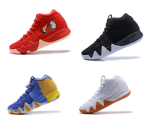 top popular NEW Zoom 4s Basketball Shoes Mens Irving 4 Athletic shoes fashion luxury All-Star Sport Training Sneakers high quality designer shoes US7-12 2019