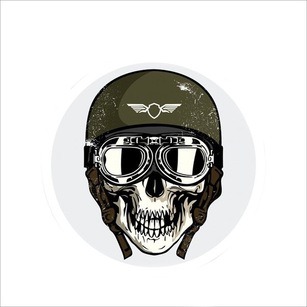 For Military Skull Cold Danger Car Window Bumper Sticker Vinyl Motorcycle Car Decoration Accessories Packaging