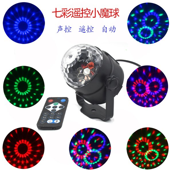 3 watt mini rgb kristall magic ball sound aktivieren discokugel bühnenlicht weihnachten laser projektor dj club party licht show magic ball licht