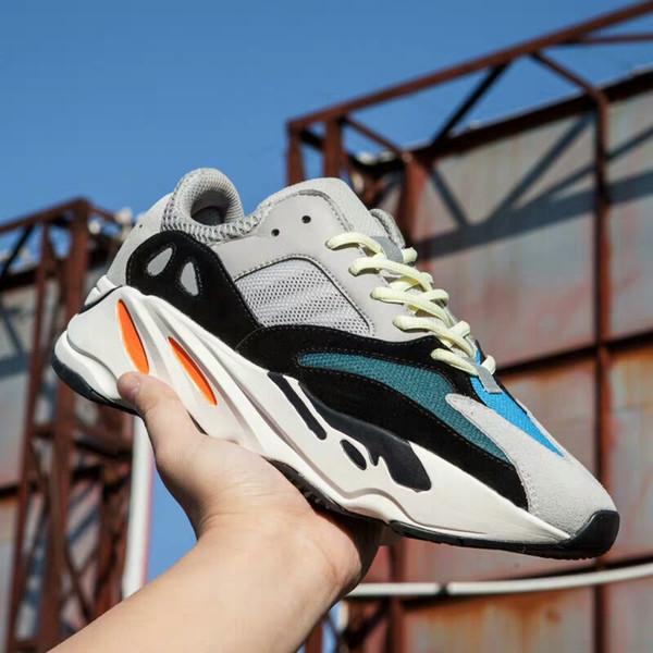 Neue 700 lila Laufschuhe Herren beste Qualität Wave Runner 700 Kanye West Designer Turnschuhe Damen 2019 Marke Stiefel US5.5-11 AG