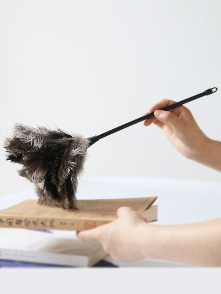 Mini Cute Ostrich Bird Feather Duster for Cleaning,Car Duster Cleaner Brush With Plastic Handle Anti-static Cleaning Tool