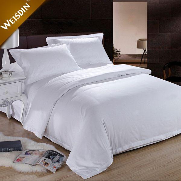 d8b234a9bfe1fc wholesale plain 100% cotton soild bedding set bed sheets quilt cover pillow  case