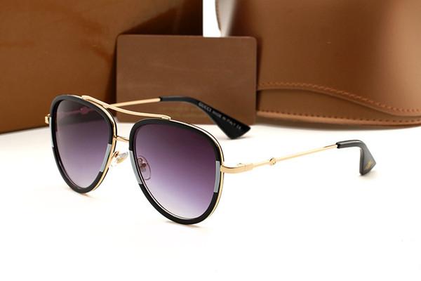 Gafas de sol de moda de alta calidad para hombres y mujeres 1688 gafas marca de diseñador gafas de sol de gradiente de leopardo mate UV400, estuche y estuche