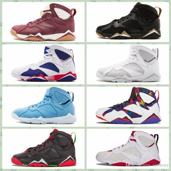 Nike Air Jordan Original AJ AJ7 2018 uomini caldi di vendita 7 scarpe outdoor uomo raptor guyz Lepri Bordeaux olimpica GG Cardinal Raptor francese blu scarpe sportive Sneakers