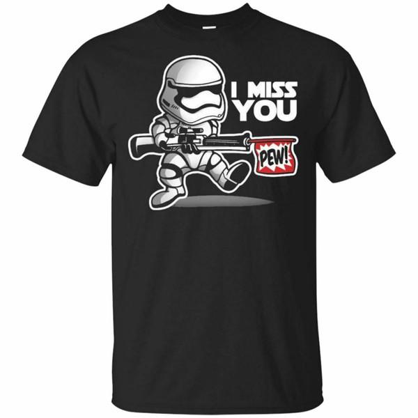 Star The Last Jedi Du fehlst mir Pew Wars Schwarz, Navy T-Shirt S-3XL