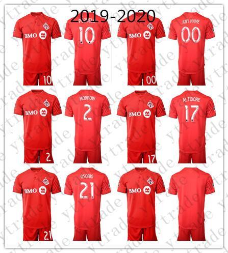 2019-2020 Toronto Soccer Jersey Men 10 Sebastian Giovinco Osorio Set Altidore Make Morrow Custom FC Maglia da calcio Kits Uniform Red