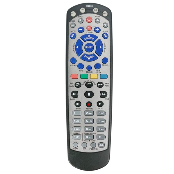 ABHU-Dish1 Universal Standard Remote Control Compatible with Dish 20.1 Network Satellite Receiver with Tv Sat Dvd Aux Mode
