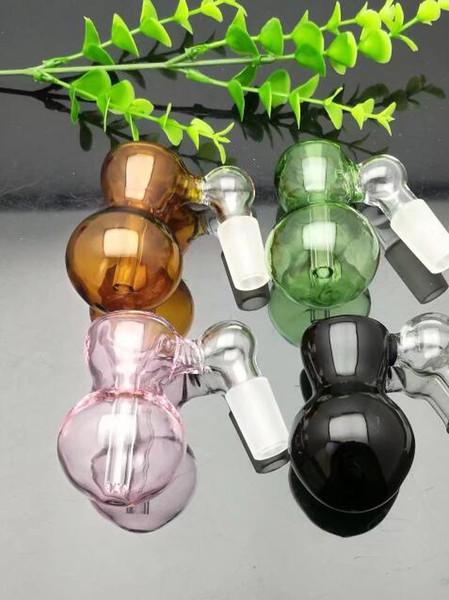 Nuevo color de la cabeza de la botella de vidrio Bongs de vidrio Quemador de aceite Pipas de agua de vidrio Plataformas petroleras Fumar 18 mm macho compras libres