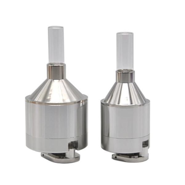 Broyeur en aluminium argenté de manivelle en couleur 56MM * 115MM ou moulin à tabac 44MM * 107MM avec la petite boîte de pilule