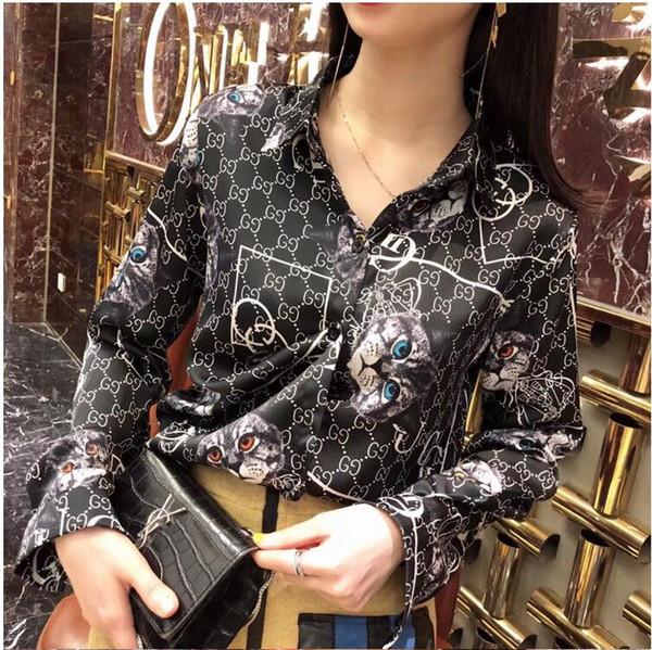 a147cc741 / New Floral Imprimir Mulheres Blusa Verão Camisa de Manga Longa Impresso Blusa Feminina Das Mulheres Tops E Blusas