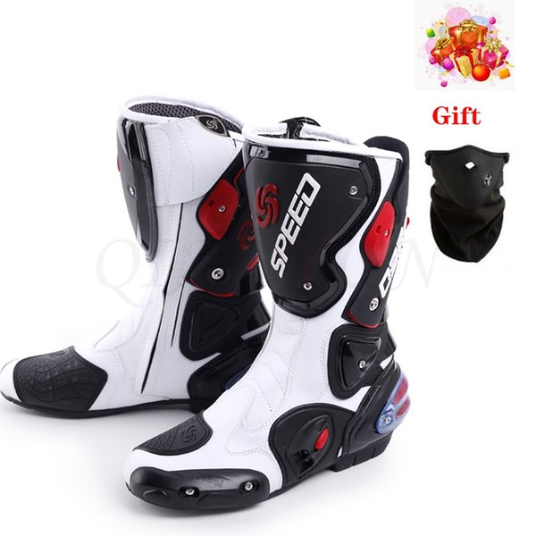 New Microfiber Leather men Motorcycle Racing Boots male Motocross Riding Shoes boots man Motocross Racing