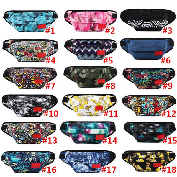 Mode Sup Gürteltasche Gürteltasche Outdoor Sport Taschen Einzelner Schulter Rucksack Hip-Hop Hüfttaschen 18 Farben DHL
