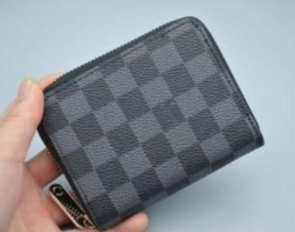 Moda designer de curto saco de embreagem com zíper carteira senhoras carteira carteira de couro dobra dupla carteira de cartão de crédito