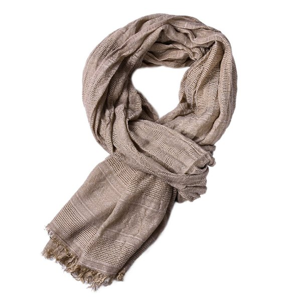 Fringed Large Casual Soft Voile Scarves Shawls for Ladies Women Men Solid Colour