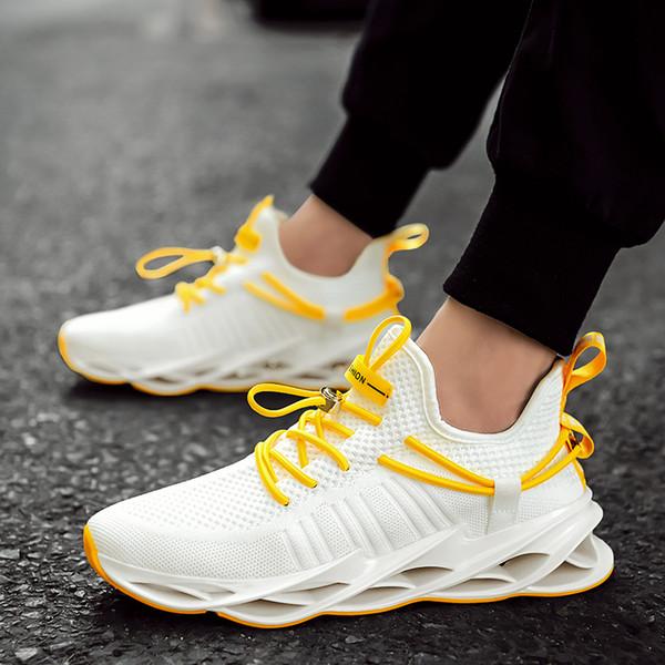 Erkekler Nefes Blade Sneakers Erkek Kıtıklanması Rahat Yürüyüş Ayakkabı Casual Dantel-up Ayakkabı Zapatos De Hombre