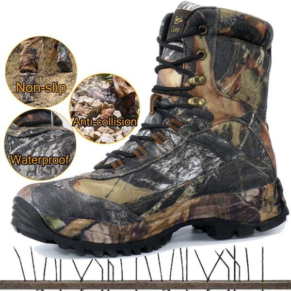 CUNGE Açık Taktik Spor erkek Ayakkabıları Su Geçirmez Yürüyüş Ayakkabıları Erkek Açık Kış Avcılık Çizmeler Dağ Ayakkabı Erkekler Ordu Boot
