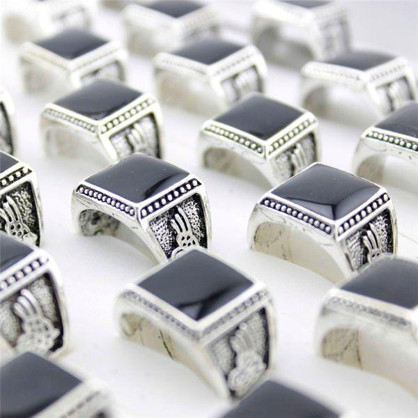 Дешевые кольца заводская цена на самых дешевых 10 штук / много винтажные кольца мужчины ретро цинкового сплава серебр