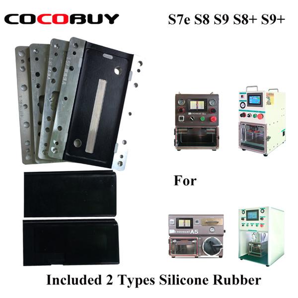 moule de laminage LCD pour Samsung bord S6 bord S7 / S8 / S8 plus / S9 / S9 plus / note 8/9 réparation LCD verre OCA laminage machine Pour YMJ
