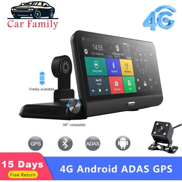 car family car dvr camera 8 inch android fhd 1080p dual lens wifi gps navigation recorder 3g/4g adas dash cam parking monitoring