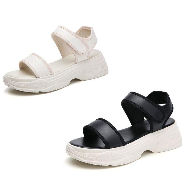 Designer riveté sandales de sport luxe en cuir véritable marque sandales de loisirs femmes mode en plein air plage casual chaussures filles